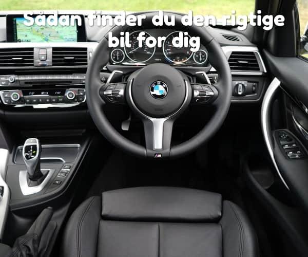 Sådan finder du den rigtige bil for dig