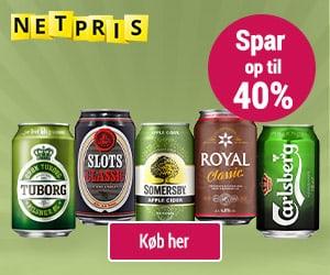 Spar penge på øl og cider via online grænsehandel hos Netpris