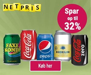 Spar penge på sodavand via online grænsehandel hos Netpris